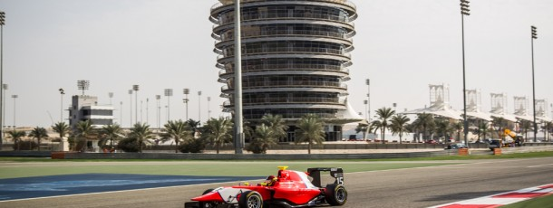 Bernstorff charges through field to finish an impressive 2nd at Bahrain feature race.